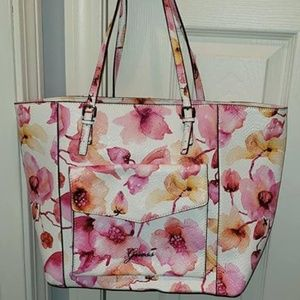 Guess Large Floral Tote Bag